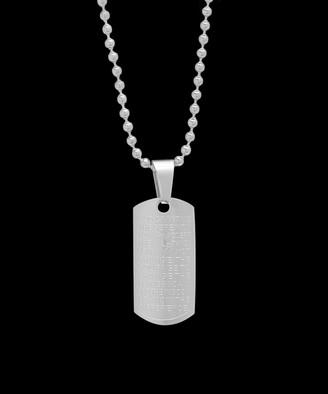 Steel Time Men's Necklaces metallic - Stainless Steel Cross Pendant Necklace
