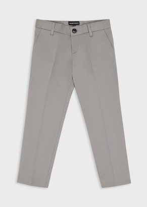 Emporio Armani Tweed Trousers With Crease