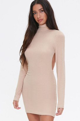 Forever 21 Open-Back Turtleneck Dress