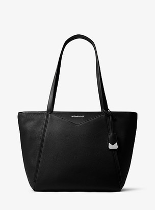 MICHAEL Michael Kors MK Whitney Large Leather Tote Bag - Black - Michael Kors