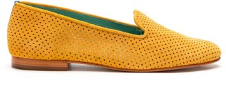 Blue Bird Shoes Perforated Slip-On Suede Loafers