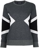 Neil Barrett geometric panel insert sweatshirt