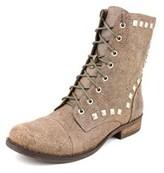 BCBGeneration Varik Women Round Toe Leather Ankle Boot.