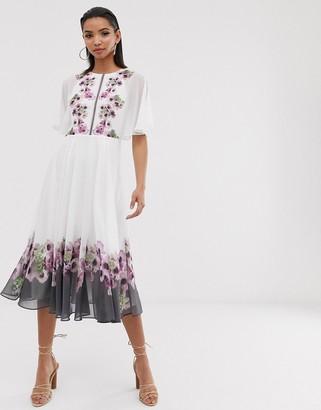 Ted Baker Begoni maxi dress in neopolitan print-Multi