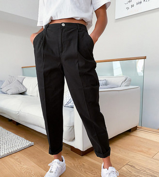 ASOS DESIGN Petite chino pants in black