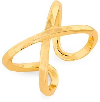 Gorjana Elea 'X' Crossover Ring