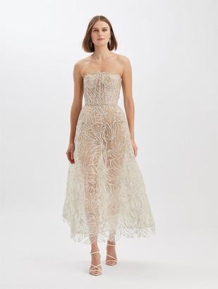 Oscar de la Renta Crystal Floral Gown