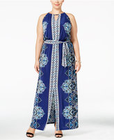 INC International Concepts Plus Size Printed Maxi Dress, Only at Macy's