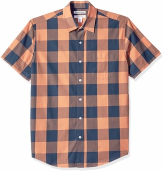 Amazon Essentials Men's Regular-Fit Short-Sleeve Casual Poplin Shirt