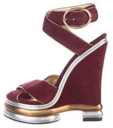 Dolce & Gabbana Suede Platform Sandals
