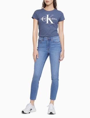 Calvin Klein Metallic Monogram Logo Crewneck T-Shirt
