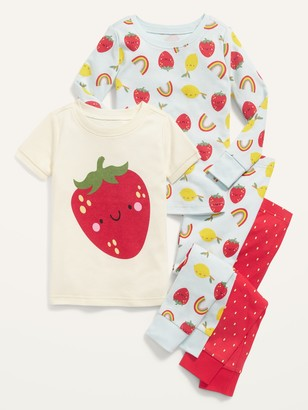 Old Navy Unisex Graphic 4-Piece Pajama Set for Toddler & Baby