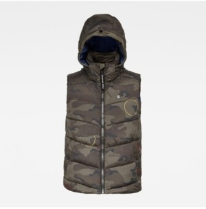 G Star Men's Whistler Hooded Vest