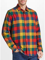John Lewis Winter Bright Buffalo Check Soft Flannel Shirt, Multi