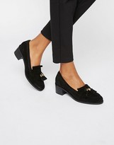 Carvela Kalm Tassle Suede Mid Heeled Shoes