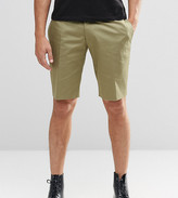 Religion Skinny Smart Shorts In Khaki