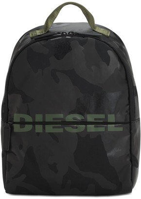 Diesel Camouflage Print Nylon Backpack