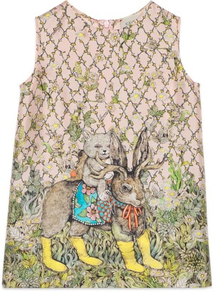 Gucci Children's Yuko Higuchi print silk top