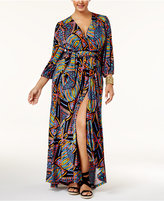 Melissa McCarthy Trendy Plus Size Printed Wrap Dress