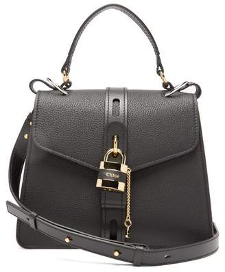 Chloé Aby Medium Leather Shoulder Bag - Womens - Black