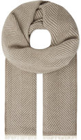 Johnstons Herringbone cashmere scarf