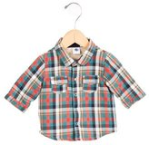 Petit Bateau Boys' Plaid Short Sleeve Jacket