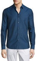 Theory Zack PS Long-Sleeve Sport Shirt, County Line