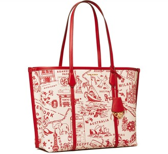Tory Burch PERRY PRINTED CANVAS TRIPLE-COMPARTMENT TOTE