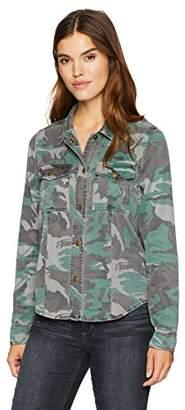 Pam & Gela Women's Shrunken Scout Shirt