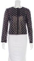 Diane von Furstenberg Stud-Embellished Leather Jacket w/ Tags