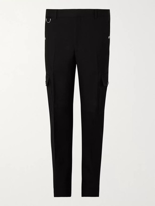Alexander McQueen Tapered Wool-Serge Cargo Trousers - Men - Black