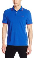 Ben Sherman Men's Short Sleeve Block Front Polo