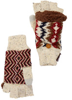 Muk Luks Americana Faux Fur Lined Pop-Top Gloves
