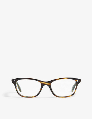 Oliver Peoples Havana Ashton square-frame optical glasses