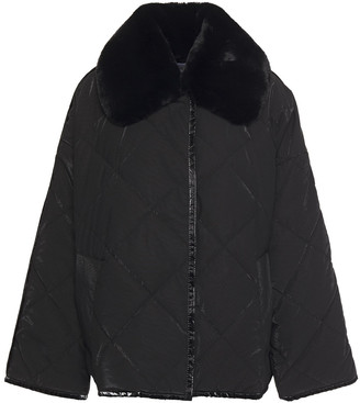 Stand Studio Marlene Faux Fur-trimmed Quilted Shell Jacket
