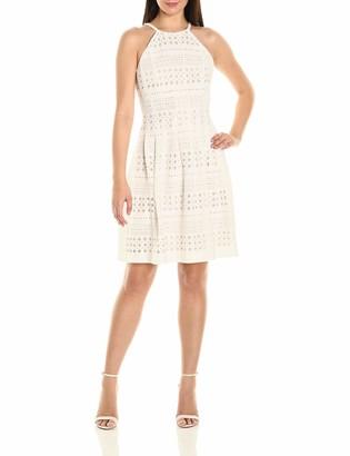 Eliza J Women's Laser Cut Halter Dress