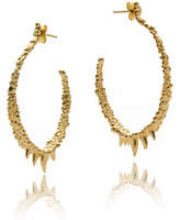 Gia Belloni Medium Organic Textured Hoop Earrings Reduced Price