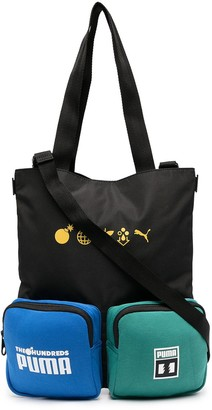 Puma Slogan Print Bag With Patch Pockets