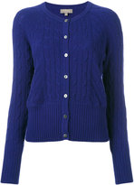 N.Peal cropped cable cardigan