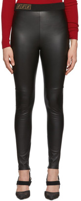 Fendi Black Leather Forever Trousers