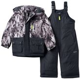 Osh Kosh Toddler Boy Hooded Mountain Jacket & Bib Snow Pants Set