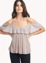 Ella Moss Cerine Cold Shoulder Tier Top