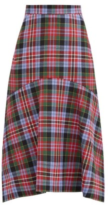 Vivienne Westwood Phoenix Mermaid-hem Tartan Wool Skirt - Multi