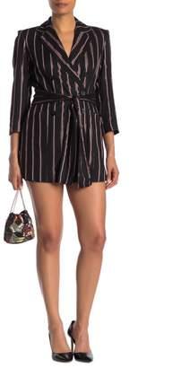 Rachel Roy Liberty Metallic Stripe Blazer Romper (Regular & Plus Size)