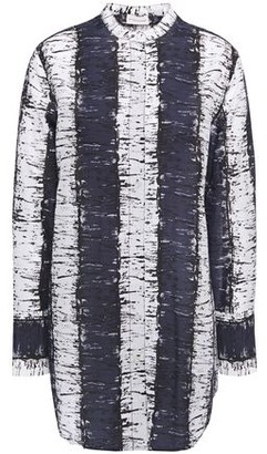 By Malene Birger Printed Cotton And Silk-blend Mousseline Shirt