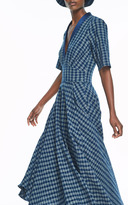 ADAM by Adam Lippes Kasuri Denim Gathered Dress