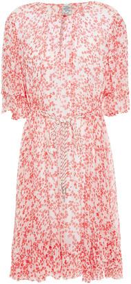 Baum und Pferdgarten Amalia Belted Floral-print Crepon Mini Dress