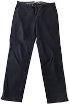Pt01 Blue Cotton Trousers for Women