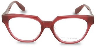 Alexander McQueen Core Blue Light 52MM Square Optical Glasses