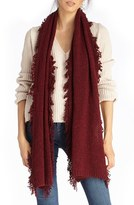 Sole Society Women's Fringe Textured Knit Scarf